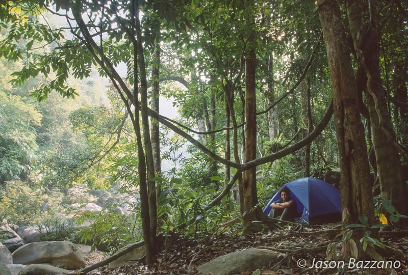 Me camping along a river in a jungle in Thailand a loooong time ago.